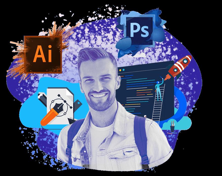 Дизайн для начинающих <br> (Photoshop, Illustrator)  обучение от школы Avenue