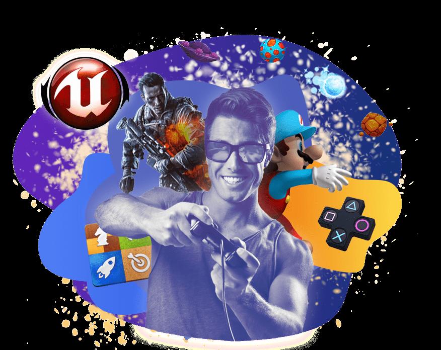 Разработчик игр <br> (Unreal Engine)  обучение от школы Avenue